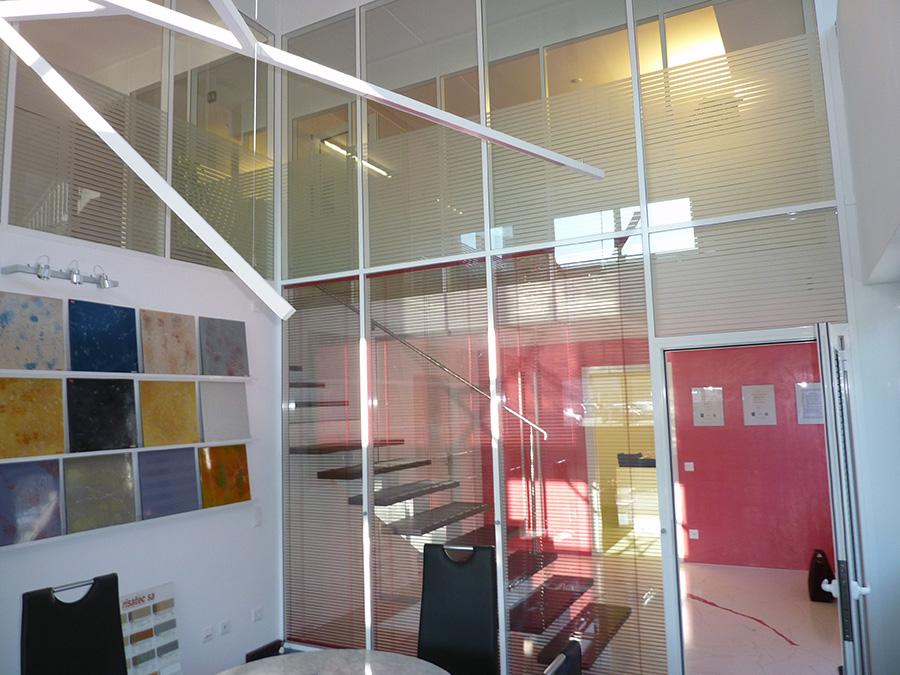 divisorio con veneziana interno vetro