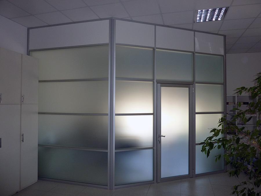 pareti mobili alluminio e vetro